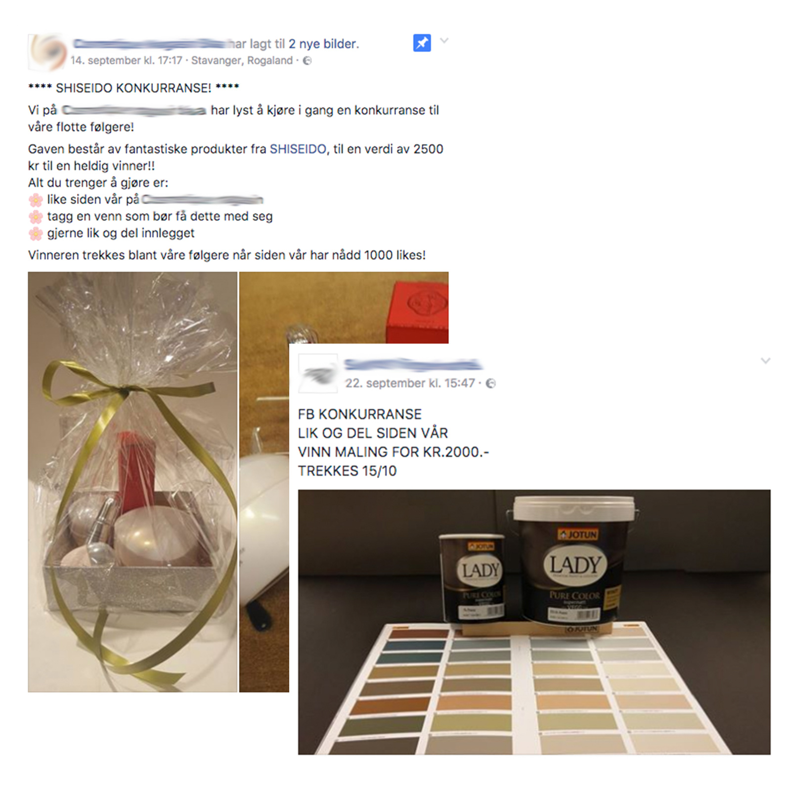 facebook retningslinjer konkurranse