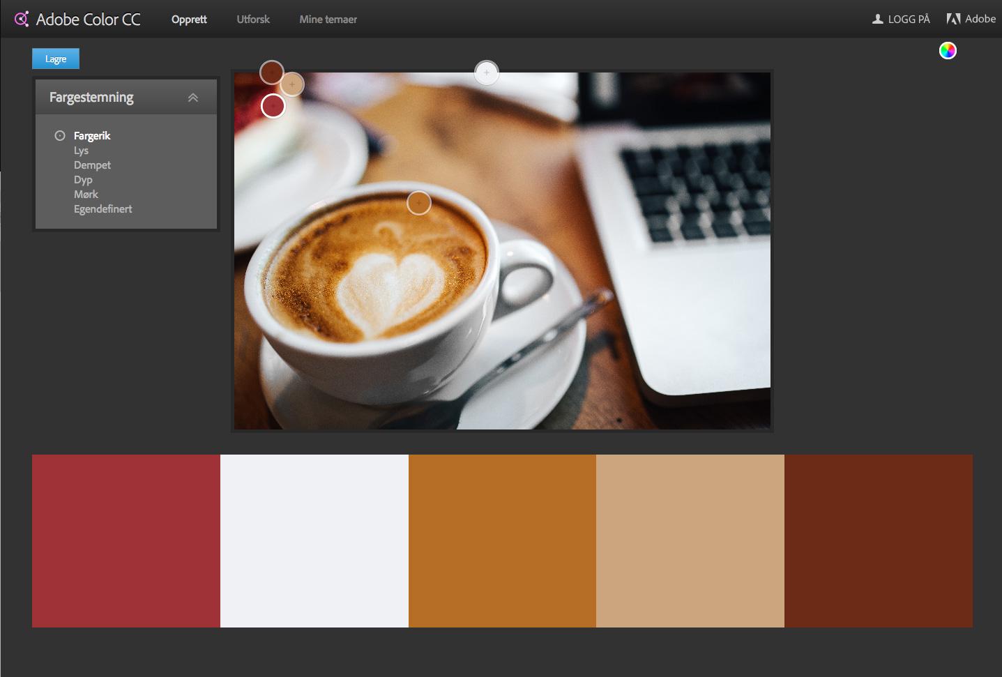 a71977ae Hvordan finne fargepalett til nettsiden din